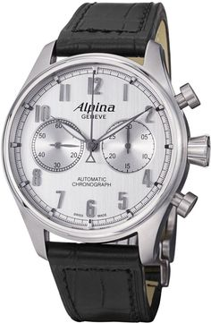 @alpinawatches Startimer Classics Chronograph #add-content #basel-16 #bezel-fixed #bracelet-strap-leather #brand-alpina #case-material-steel #case-width-44mm #chronograph-yes #delivery-timescale-1-2-weeks #dial-colour-silver #gender-mens #luxury #movement-automatic #new-product-yes #official-stockist-for-alpina-watches #packaging-alpina-watch-packaging #style-dress #subcat-startimer #supplier-model-no-al-860sc4s6 #warranty-alpina-official-2-year-guarantee #water-resistant-100m