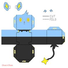 Shinx Papercraft by CharrChan on DeviantArt