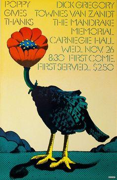 milton glaser. poster for poppy records, 1968.