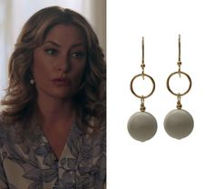2b9d85c69864 Alice Cooper (Madchen Amick) wears these circle drop earrings in this  episode of Riverdale