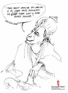Wednesday, May 13, 2015 Daily drawings of Hanuman / Hanuman TODAY / Connecting with Hanuman through art / Artwork by Petr Budil [Pritam] www.hanuman.today