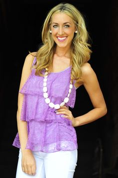 Lace Play A Game Tank: Lavendar | Hope's