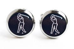 Black Golf Cufflinks - hardtofind. $50.00 #hardtofind #hard #find #gift #present #holiday