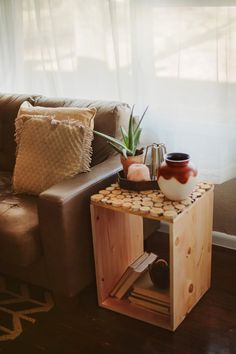 Birch Wood Table DIY - Sincerely, Kinsey