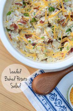 Loaded Baked Potato Salad @FoodBlogs