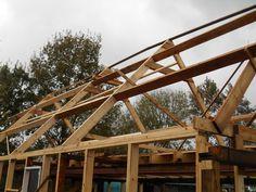 Constructie van houten schuur
