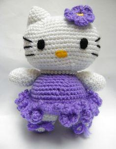 Amigurumi Kitty Ballet Dancer/Crocheted by Handmadebyvaly on Etsy