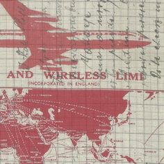 Tim Holtz - Correspondence II - Jet Setter in Red