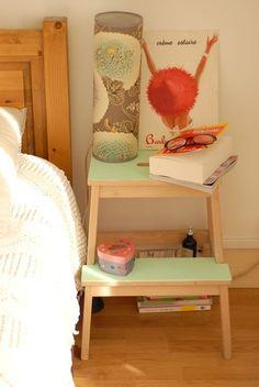 ステップ部分だけペイントしてもキュート。ベッドサイドに置くにもちょうどいいサイズ。