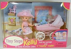 Li'l Friends of Kelly the 1998 release of walking Kelly and baby carriage