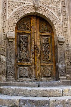 An Old Door in Mustafa Paşa Town, Cappadocia, Central Anatolia, Turkey