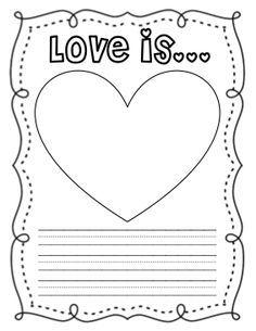 A Cupcake for the Teacher: Love Is... Class Book Freebie!
