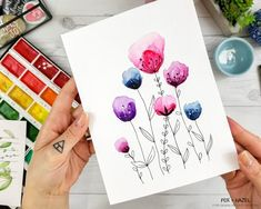 How to Paint Easy Watercolor Flowers Tutorial - Fox + Hazel for Dawn Nicole Designs 27