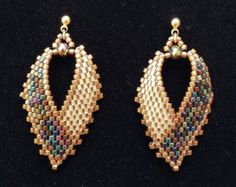 Russian Leaf Earrinngs by BeadAndBowtique on Etsy