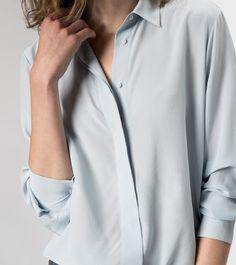 LOve this! maje GELA Silk Button Down Shirt at Maje US