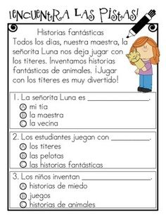 10 CENTROS DE COMPRENSION DE LA LECTURA  (LITERACY CENTERS IN SPANISH)