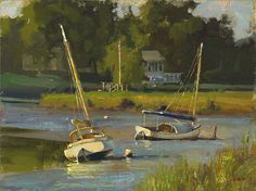 Resting on the River by Don Demers LIMITED EDITION CANVAS