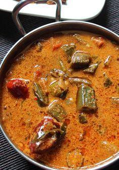 Vendakkai Puli Kuzhambu Lady's Finger Kulambu endakkai Puli Kuzhambu or Lady's Finger Kulambu is a spicy, savory and flavorful okra curry recipe originating in South India. It is popularly served with rice, #LadyFingerRecipe