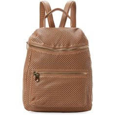 Cynthia Rowley Women's Kylie Perforated Leather Backpack (560 SAR) ❤ liked on Polyvore featuring bags, backpacks, genuine leather bags, genuine leather backpack, backpack bags, leather strap backpack and leather knapsack