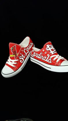 custom St. LOUIS CARDINAL'S men and women baseball shoes, sports fan shoes