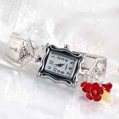 Vintage Spoon Watch Charm Bracelet Watch Silverware by mcfmiller, $40.00