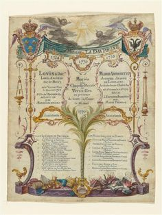 List of witnesses to the marriage of Marie-Antoinette and Louis XVI, 1770, gouache on vellum (Versailles)  ♥