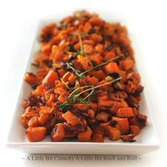 Thyme-Roasted Garlic Sweet Potatoes