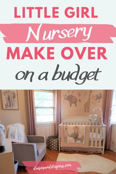 Little girl nursery makeover. Little girl nursery decor. How to decorate your baby girls nursery. Little Girl Rooms, Little Girls, Girl Nursery, Nursery Decor, Baby Girls, Boy Or Girl, Nursery Organization, Workout Rooms, Budgeting