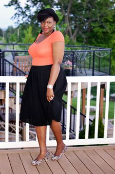 Plus size style inspiration, fun times wearing  a Crop top last summer. I am wearing a size 14 from Asos and I am 18. Don't be afraid to try the straight size section.