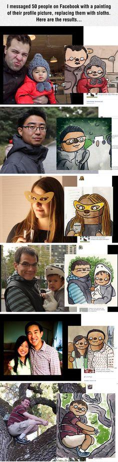Random People On Facebook As Sloths
