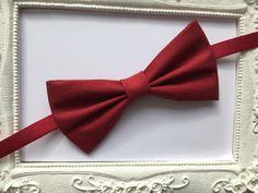 Noeud papillon élégante Bordeaux - homme : Cravates par fleurs-de-provence