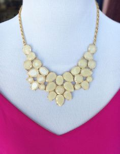 Shine On Necklace - Cream