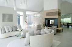 COCOCOZY: SEE THIS HOUSE: WHITE ON WHITE IN A MODERN HAMPTONS FARMHOUSE!