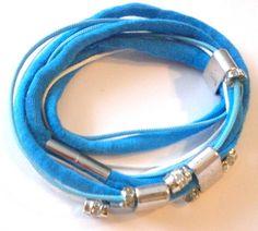 Wickelarmbänder - Wickelarmband, Armband türkis-weiß - ein Designerstück von Modeschmuckstuebchen-Andrea bei DaWanda