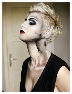 Modern warrior #HalloweenMakeup #Halloween #makeup #party #HalloweenIdeas #beauty #HalloweenCostume #ideas #costumes #inspiration #crafts #DIY #howto #tutorial