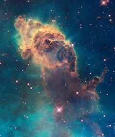Astronomy is the science of that which happens beyond our Earth. Images like this one of stellar jet activity in the Carina Nebula, taken by the Hubble Space Telescope, help us understand the universe. Cosmos, Carina Nebula, Hubble Space Telescope, Space And Astronomy, Nasa Space, Space Planets, Ciel Nocturne, Whatsapp Wallpaper, Hubble Images