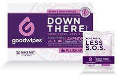 Price: [price_with_discount] Down there wipes for Gals 30 individually wrapped flushable biodegradable wet wipes. Our Goodwipes flushable Feminine Wipes are Biodegradable and flushable. Feminine Wipes, Feminine Hygiene, Wipes Box, Makeup Remover Wipes, Wet Wipe, Lavender Scent, Have Time, Biodegradable Products, Sensitive Skin