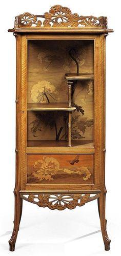 Art Nouveau Ombrelles VitrIne by Émile Gallé, France - Site Title Art Nouveau Furniture, Art Furniture, Furniture Styles, Furniture Design, Floral Furniture, Floral Chair, Furniture Buyers, Furniture Chairs, Furniture Plans