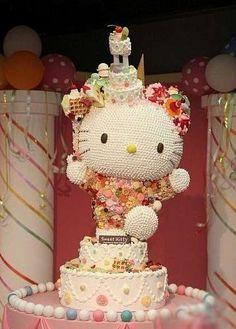 Hello Kitty Candy Cake