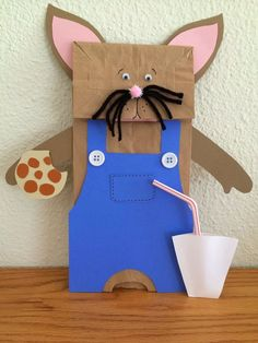 """If You Give A Mouse A Cookie"" by Laura Numeroff. Paper bag mouse craft activity for kids. You could also do a country and city mouse version. This is so cute!"