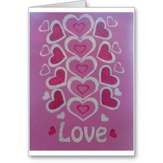 Love Hearts Greeting Card