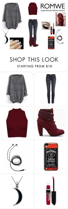 """""""Romwe Contest"""" by lizzybunny18 ❤ liked on Polyvore featuring Paige Denim, Carolina Glamour Collection, Rimmel and Barbed"""