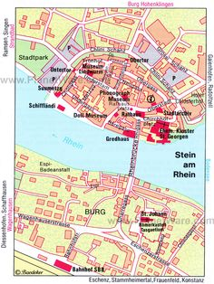 Stein am Rhein Map - Tourist Attractions