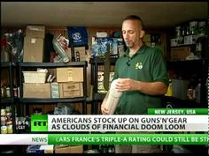 'Preppers' stock up on guns'n'gear as financial doom looms. RT News 08/11/11.