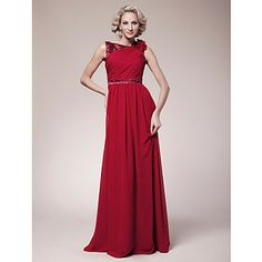 A-line Bateau Floor-length Chiffon Mother of the Bride Dress – USD $ 179.99