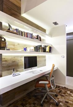 Home Office. Amazing Home Office Design Ideas. Contemporary Home Office With Modern Furniture Decoration Features Hidden… Home Office Space, Office Workspace, Home Office Design, Home Office Decor, House Design, Home Decor, Office Ideas, Office Designs, Office Nook