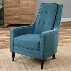 Uttermost Katana Arm Chair - The Uttermost Katana Arm Chair isn't shy about showing off its feathers with its stunning peacock blue upholstery. This classic arm chair,...