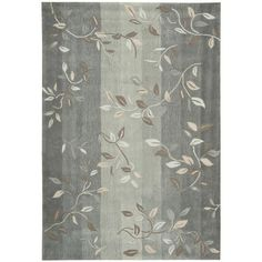 This elegant hand tufted rug features intricately dyed aqua, grey, and ivory colored fibers, blended in a floral pattern that is sure to draw attention. It has an ultra-soft hand tufted design for superior softness in any room of your home.