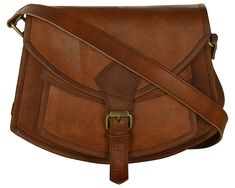Vintage Leather Cross Body Bag Shoulder Sling Handcrafted Leather Bag >>> Click on the image for additional details. (This is an affiliate link)