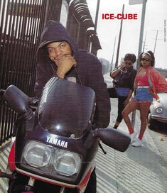 """(no title) Mercenary garage: Ice Cube IceCube Yamaha… IceCube Yamaha """"Wait until the paparazzi get a load of it .""""Wait for the paparazzi to get Mode Hip Hop, 90s Hip Hop, Hip Hop And R&b, Hiphop, Harrison Ford, Meryl Streep, Indiana Jones, Ice Cube Rapper, Travis Scott"""